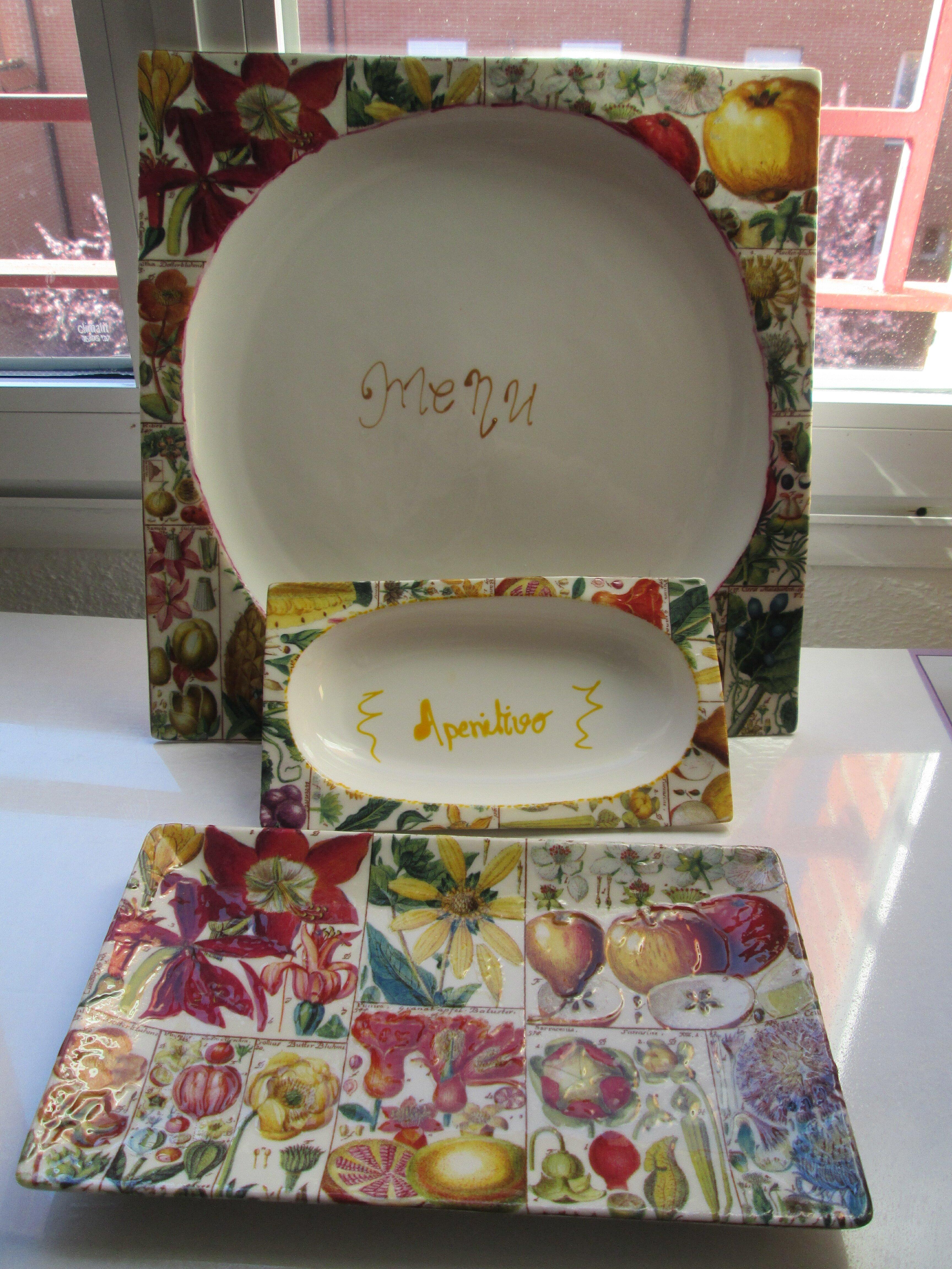 La loza y el decoupage quedomon simo for Tecnicas para esmaltar ceramica